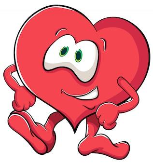 Illustrazione di san valentino con il cuore