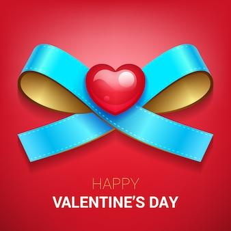 Illustrazione di san valentino. nastro con cuore.