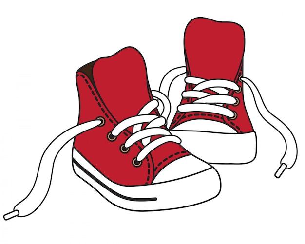 Illustrazione di scarpe da ginnastica rosse