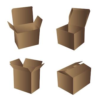 Illustrazione di scatole di cartone