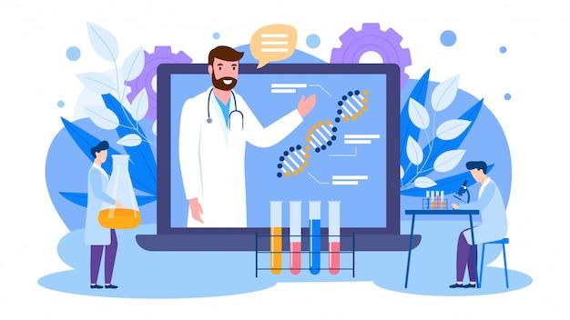 Illustrazione di scienziati