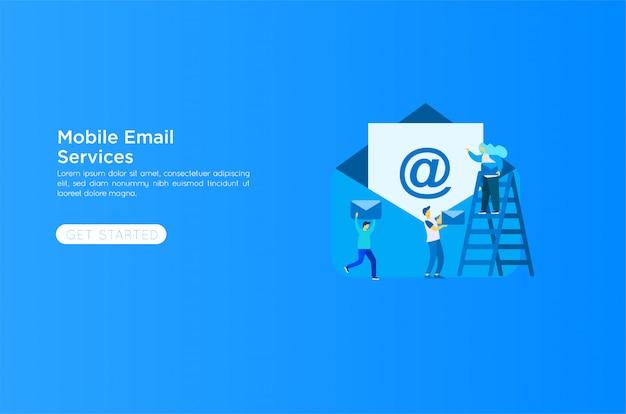 Illustrazione di servizi di posta elettronica