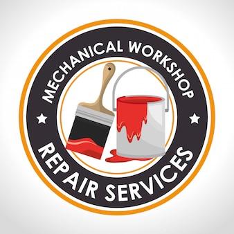 Illustrazione di servizio di riparazione