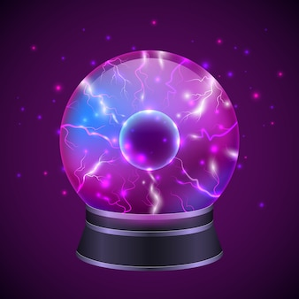 Illustrazione di sfera magica