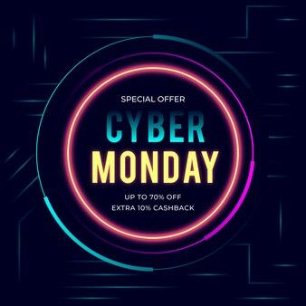 Illustrazione di sfondo di cyber monday