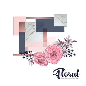 Illustrazione di sfondo di fiori