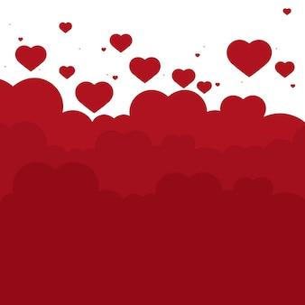 Illustrazione di sfondo di San Valentino