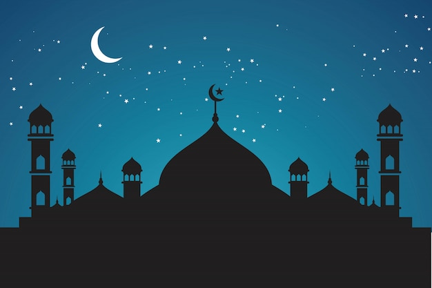 Illustrazione di sfondo musulmano