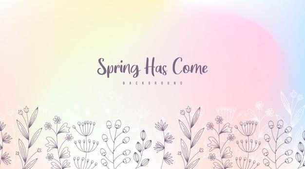 Illustrazione di sfondo primavera. fiori di primavera sfondo