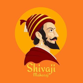 Illustrazione di shivaji maharaj