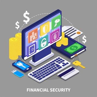 Illustrazione di sicurezza finanziaria