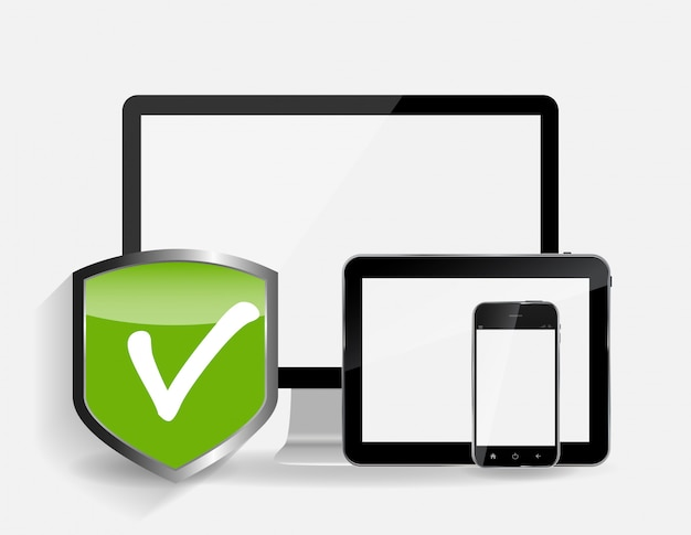 Illustrazione di sicurezza internet