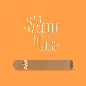 Illustrazione di sigaro cubano