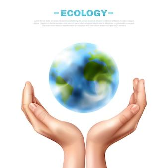 Illustrazione di simbolo di ecologia