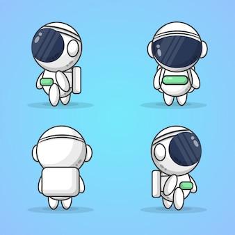 Illustrazione di simpatici astronauti