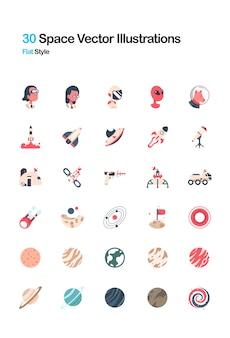 Illustrazione di spazio piatto