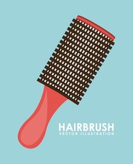 Illustrazione di spazzola per capelli