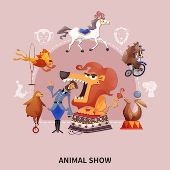 Illustrazione di spettacoli animali