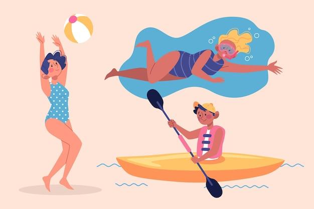Illustrazione di sport estivi
