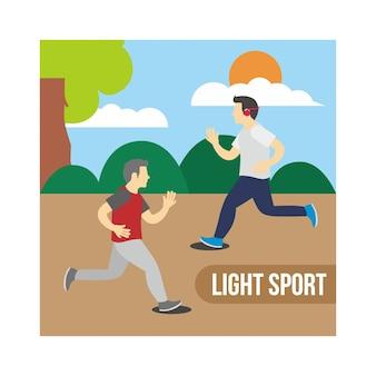 Illustrazione di sport leggero