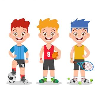 Illustrazione di sport per bambini