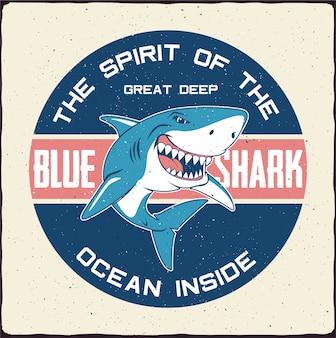 Illustrazione di squalo