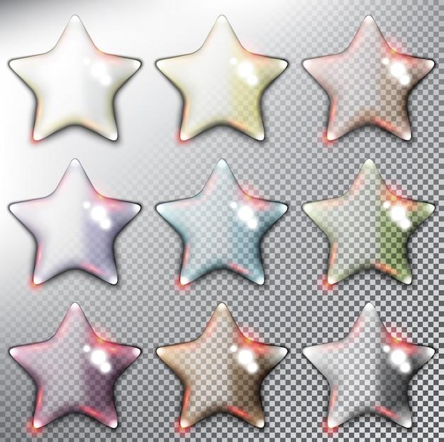 Illustrazione di stelle lucide