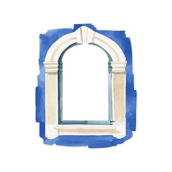 Illustrazione di stile colore acqua finestra