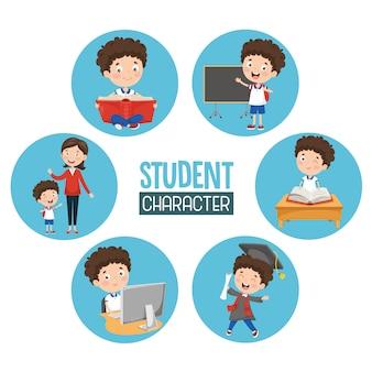 Illustrazione di studente bambino