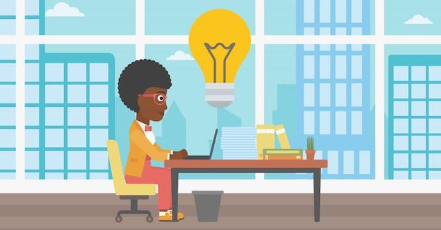 Illustrazione di successo idea business vettoriale.