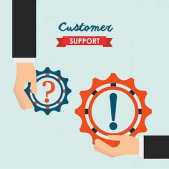 Illustrazione di supporto del cliente