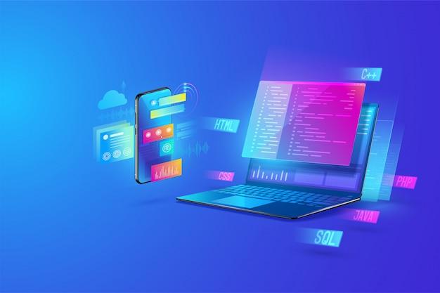 Illustrazione di sviluppo web