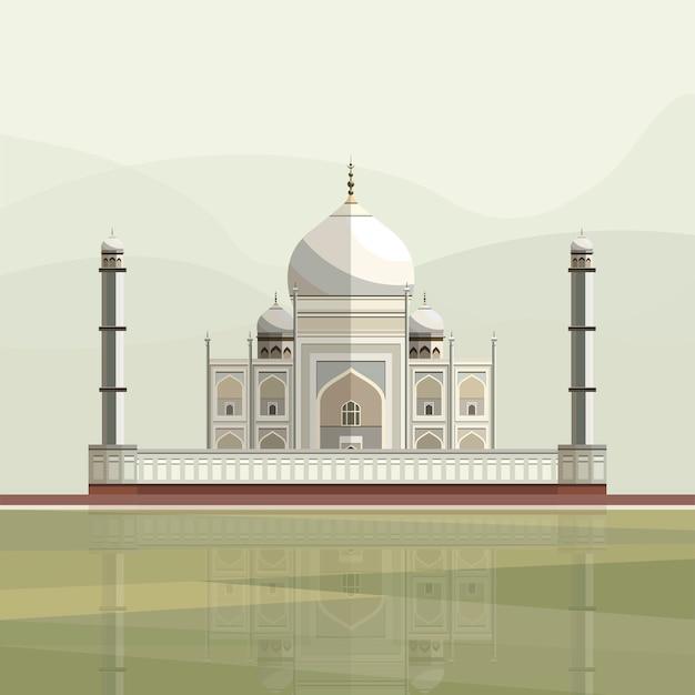 Illustrazione di taj mahal
