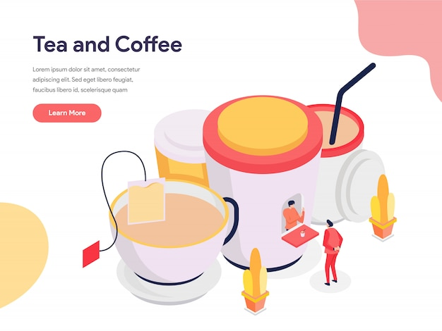 Illustrazione di tè e caffè