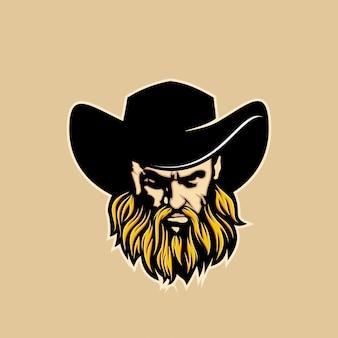 Illustrazione di testa di cowboy