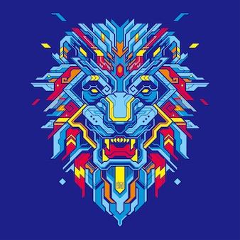 Illustrazione di testa di leone
