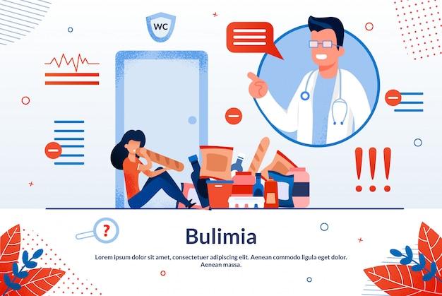 Illustrazione di trattamento di disturbo alimentare della bulimia