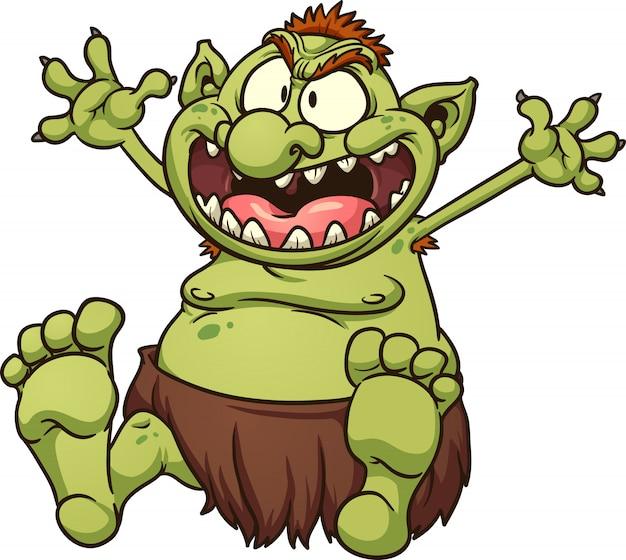 Illustrazione di troll grasso
