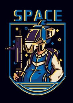 Illustrazione di truppe spaziali