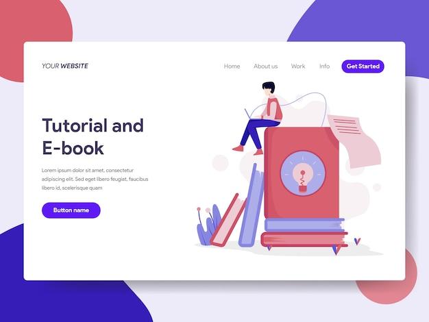 Illustrazione di tutorial ed e-book