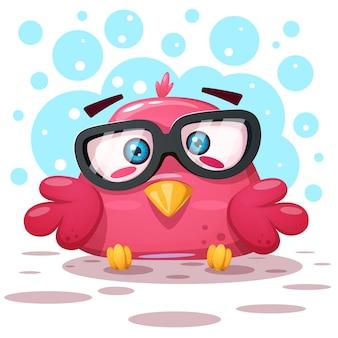 Illustrazione di uccello carino