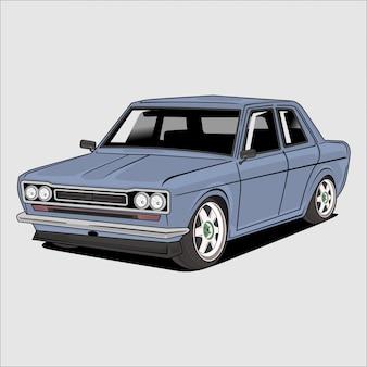 Illustrazione di un'auto d'epoca