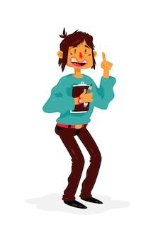 Illustrazione di un manager dei cartoni animati