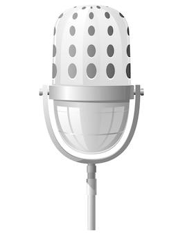Illustrazione di un microfono nella parte anteriore
