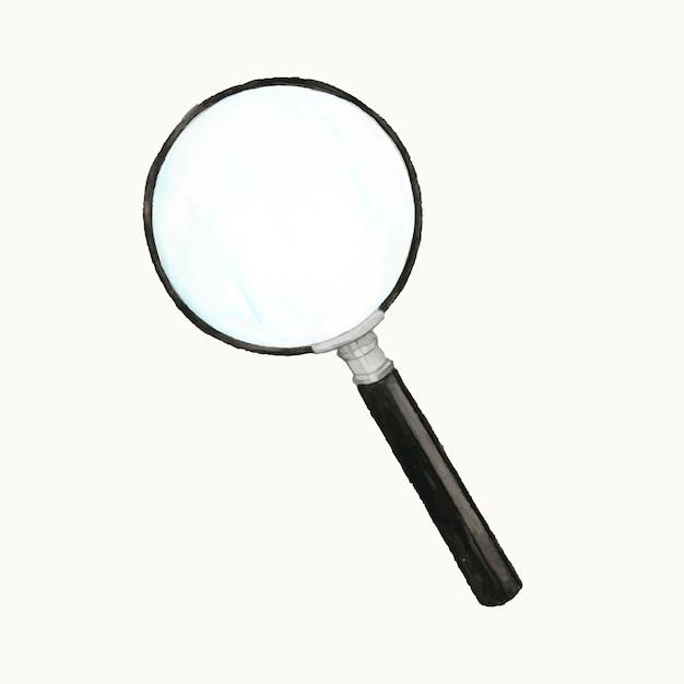 Illustrazione di una lente di ingrandimento