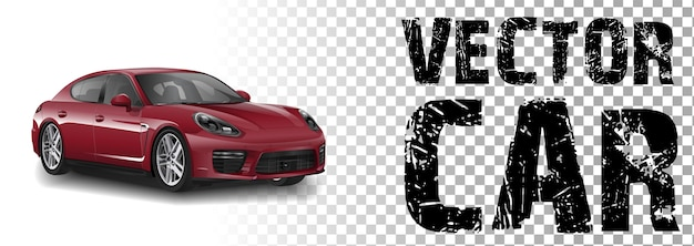 Illustrazione di una macchina rossa