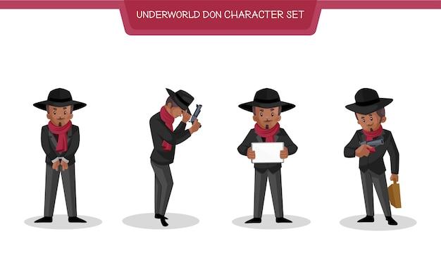 Illustrazione di underworld don character set