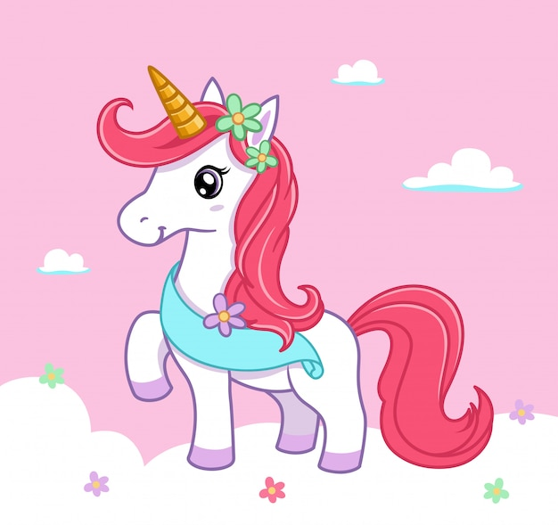 Illustrazione di unicorno carino 2