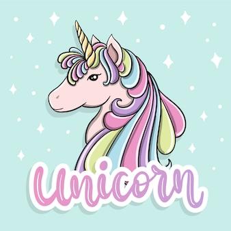 Illustrazione di unicorno colorato
