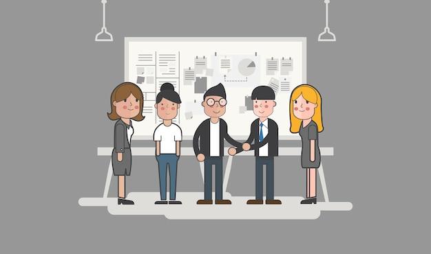 Illustrazione di uomini d'affari avatar
